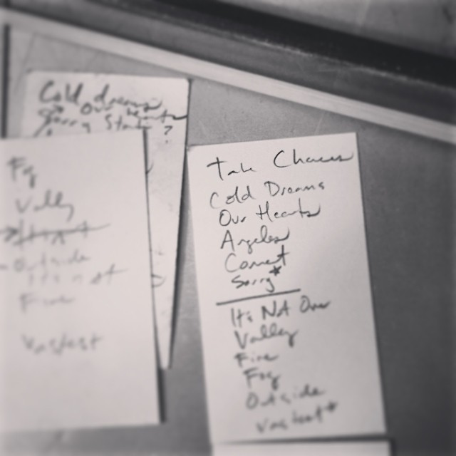I forgot how much I enjoy making a set list. Wish I would have saved all of them over the years. Oh well. Starting now then!