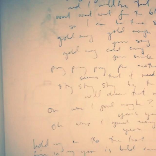 Flipping trough Ye ol' lyric book. #songwriting #cuttingroomfloor #timetravel